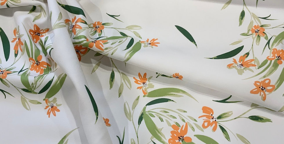 Naomi Fused Stretch Polyester Crepe