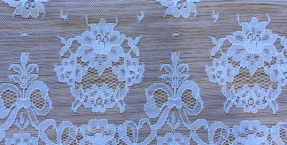 White Vintage English Nylon Lace
