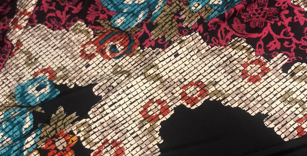 Jewel digital rose knit Remnant