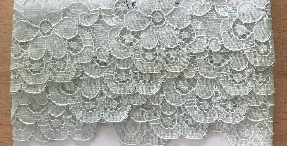 Vintage English nylon lace remnant