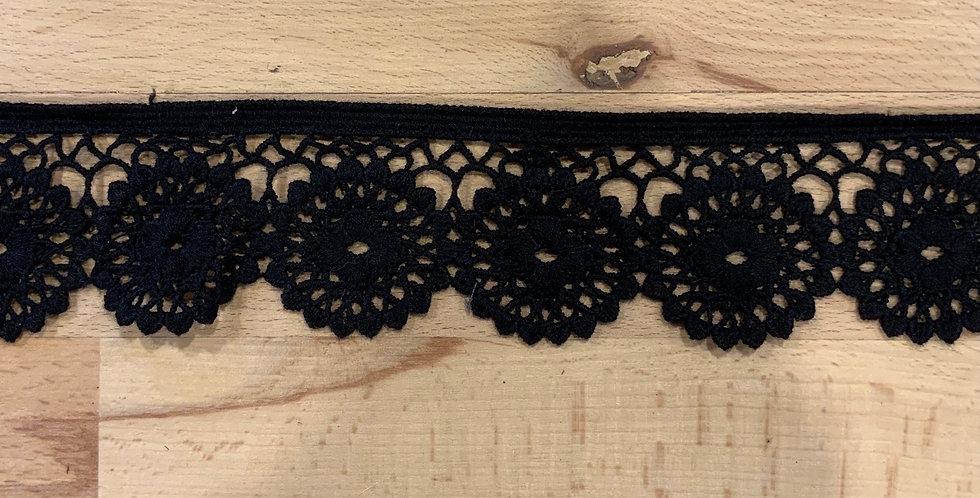 Woodstock  Black Cotton Edging Lace