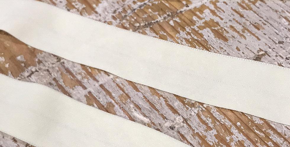 Dark cream matte foldover elastic