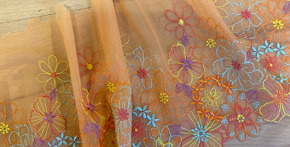 flower fields embroidered trim
