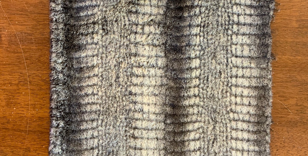 Chocolate Beige Reptile Textured Fur Piece...