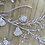 Thumbnail: Dusty pink 3D ribbon flower piece 6
