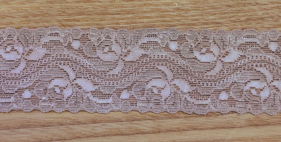 Pale Mocha Hand Dyed Stretch Lace ....