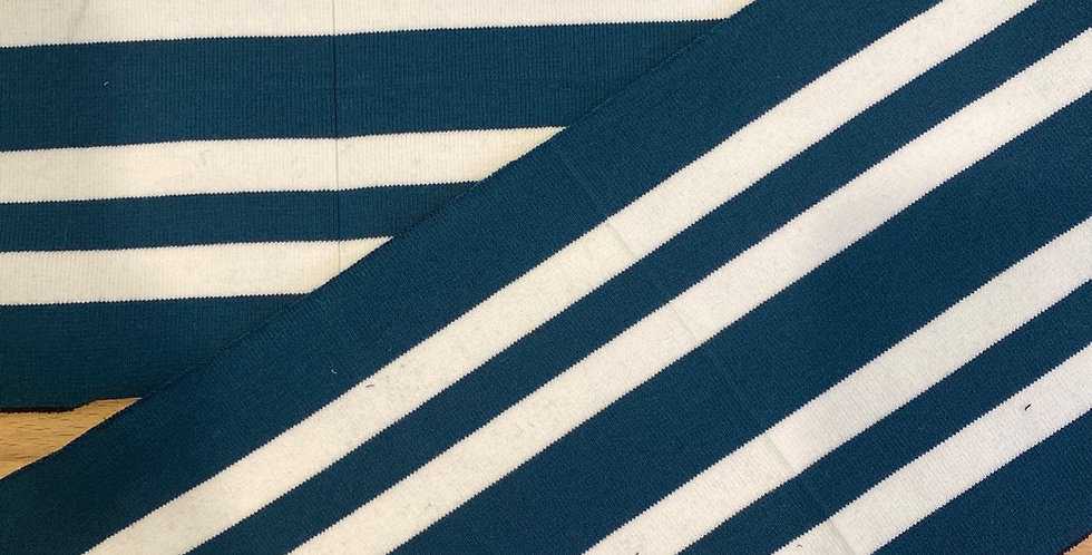 deep teal stripe rib (wide fold)
