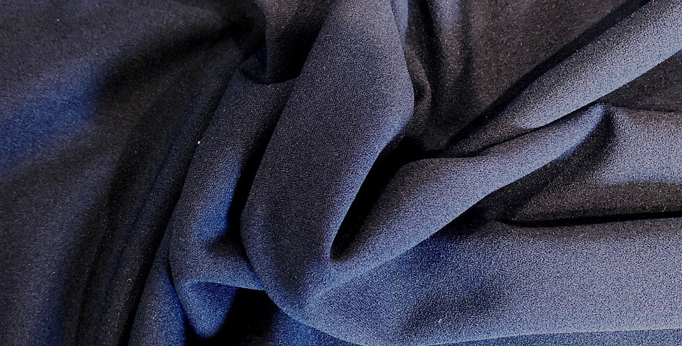 Navy stretch crepe remnant