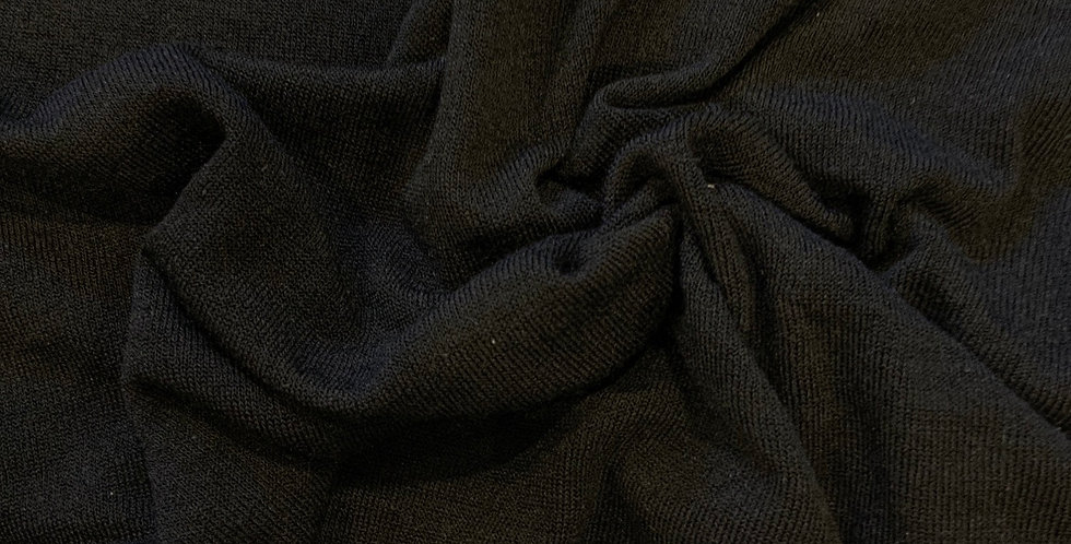 Black Lightweight Brushed Knit Remnant