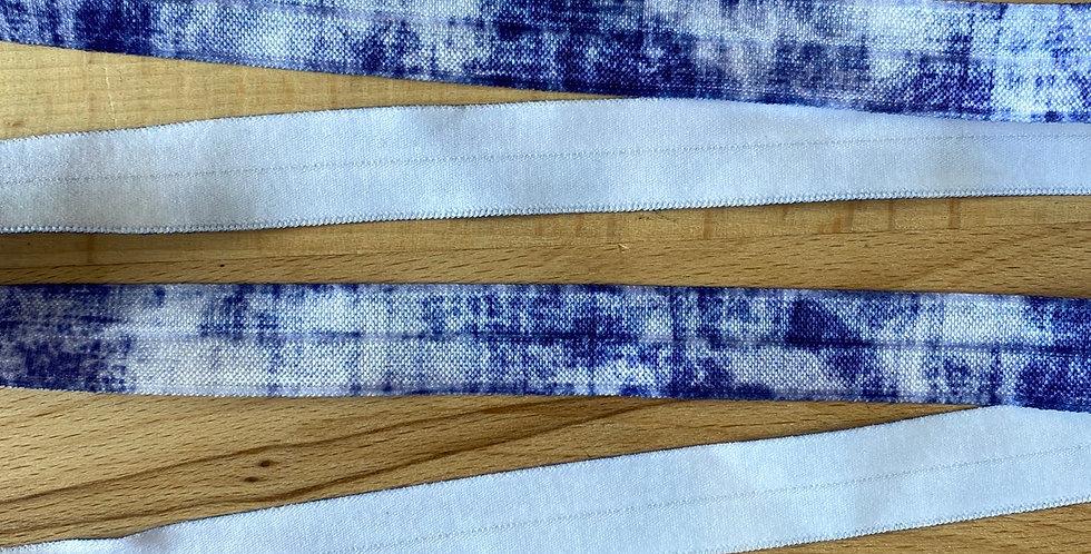 Denim tie dye fold over elastic