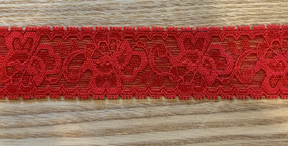 Coral Red Stretch Lace...