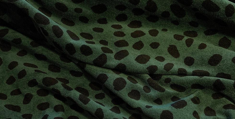 Paapii Cheetah Dots Green Stretch Terry…