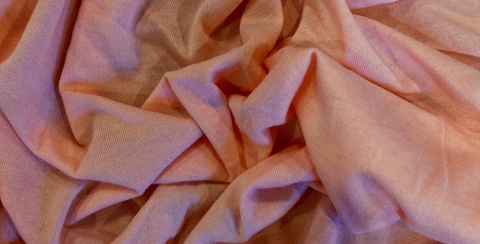 peach bamboo single knit