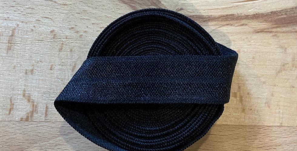 Black 2.3mtr roll Foldover Elastic