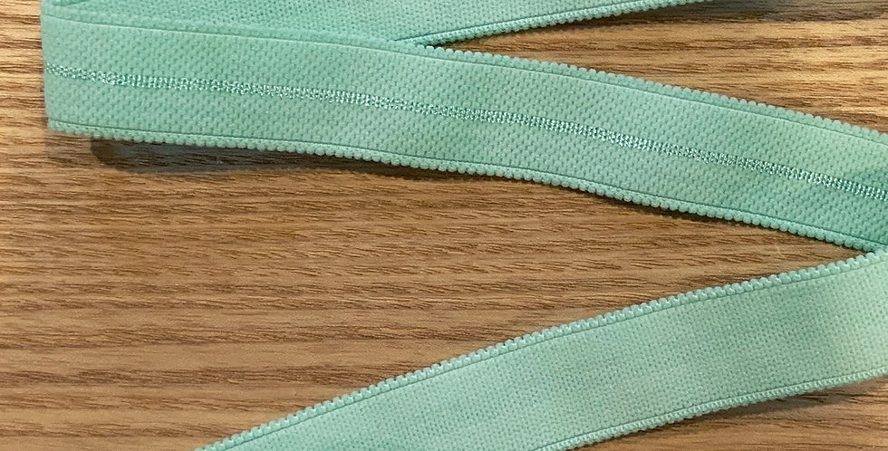 Mottled Mint Hand Dyed Decorative Strapping Elastic...