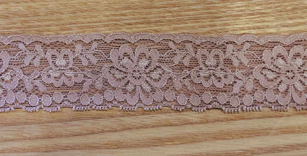 Mocha Pink Hand Dyed Stretch Lace...