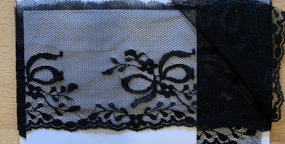 Black Bows Nylon Lace Remnant
