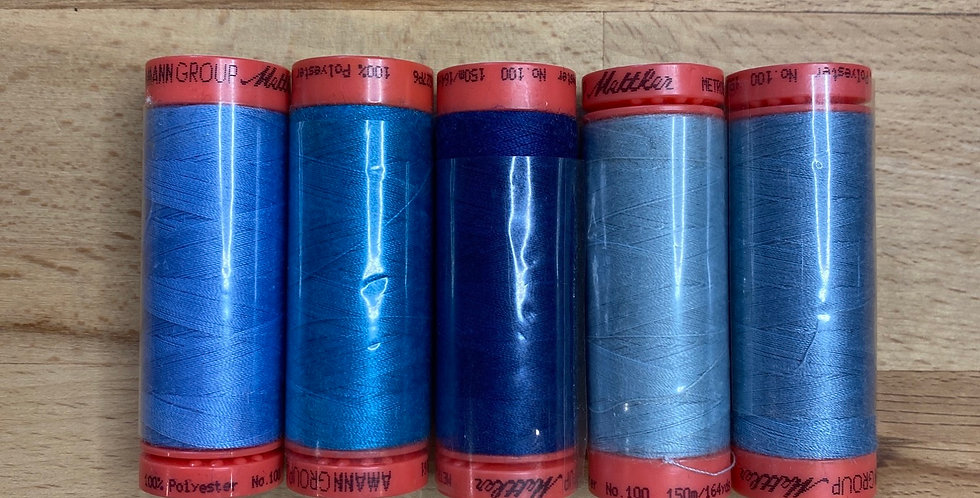 Metrosene Mixed Blue Thread Pack #5