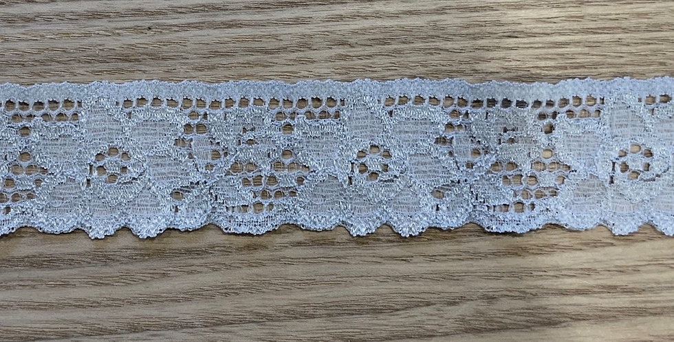 Pale Dusty Blue Hand Dyed Stretch Lace....