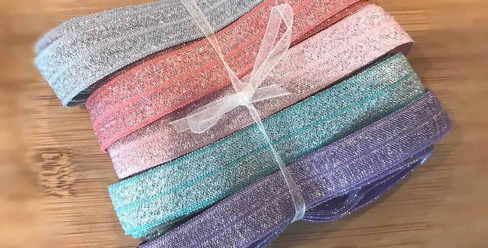10 metres of sparkle foldover elastic