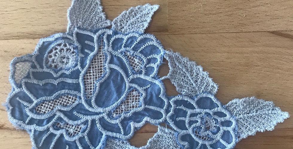 Wedgewood blue natural rose motif