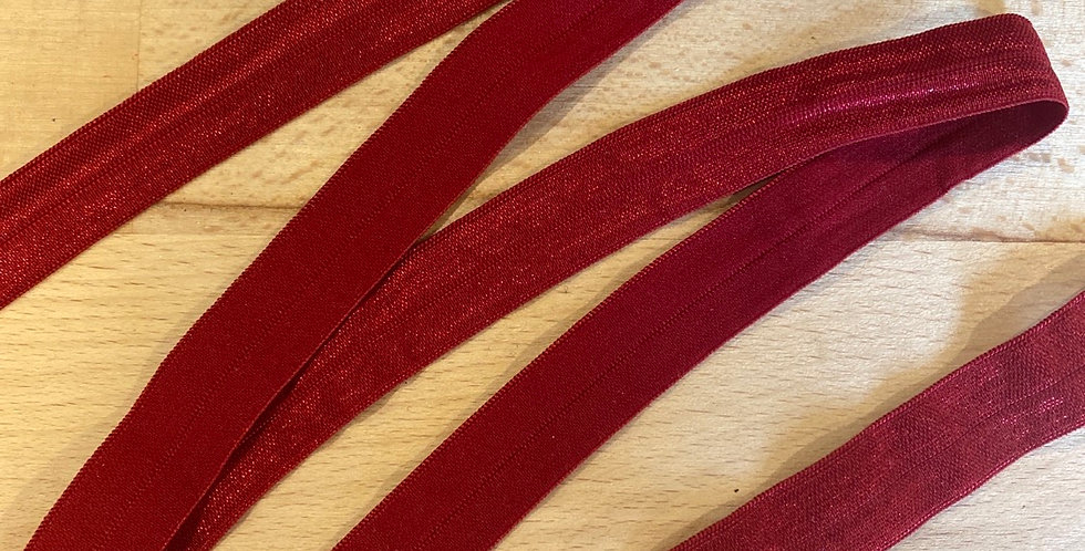 Ruby red foldover elastic