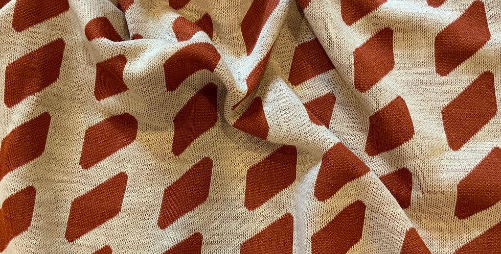 Vintage 1970's Cinnamon Shapes Crimplene Remnant