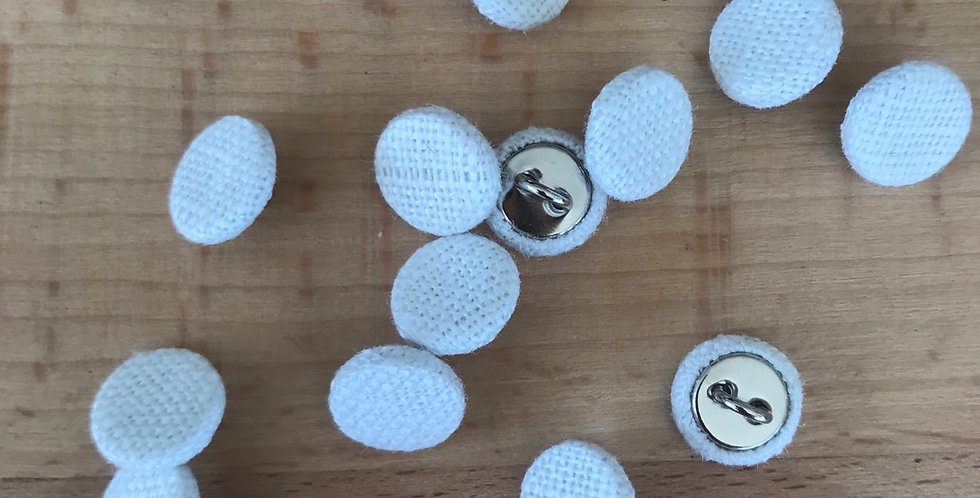 Ivory linen covered buttons