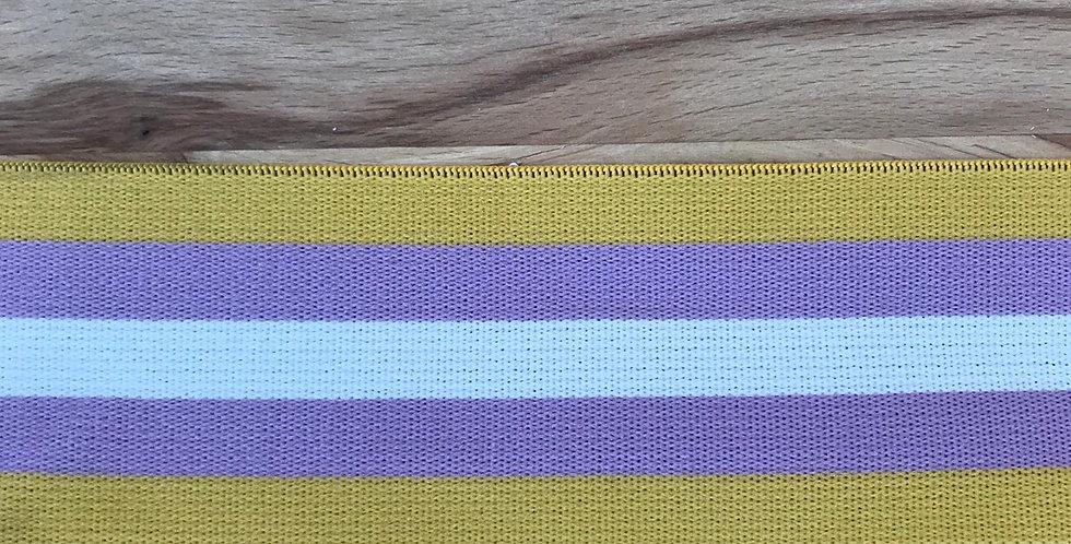 Violet retro stripe elastic