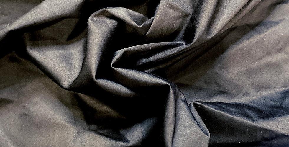 black stretch polished cotton remnant