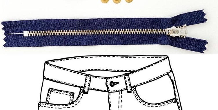 KATM jeans hardware refill kit navy gold
