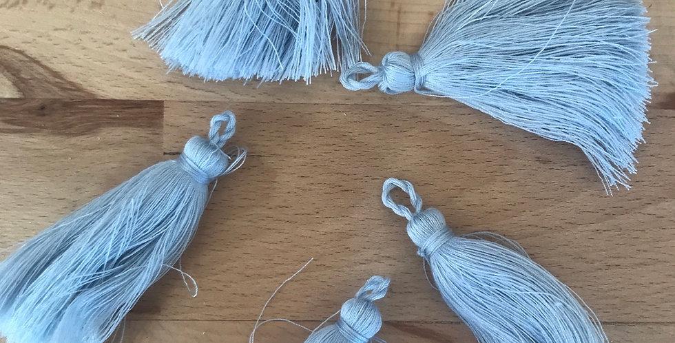 Powder blue cotton tassel