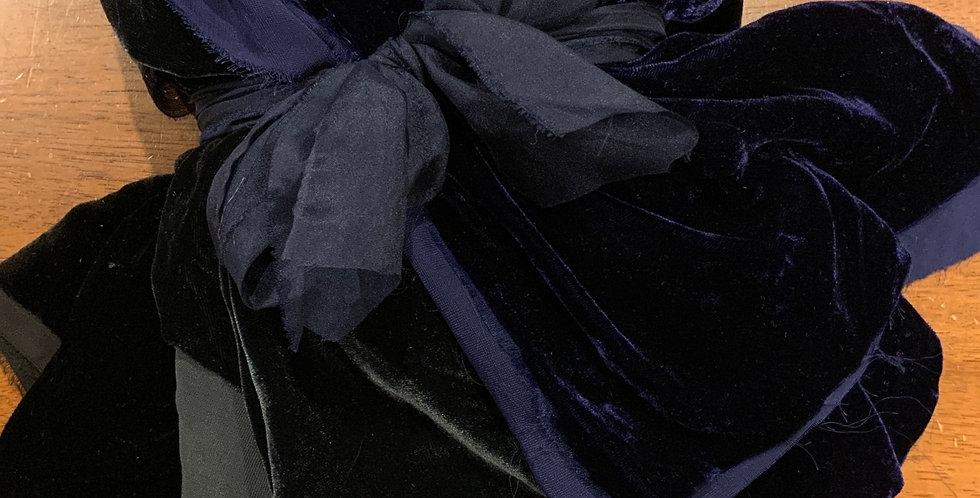 Assorted Bundle 5 Pieces Silk Viscose Velvet Off Cuts