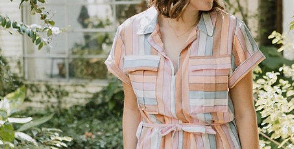 sew to grow sydni shirt dress pattern