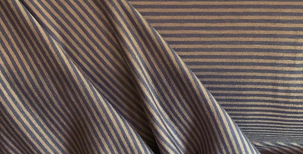 Steel Blue Microstripe Polyester Jersey....