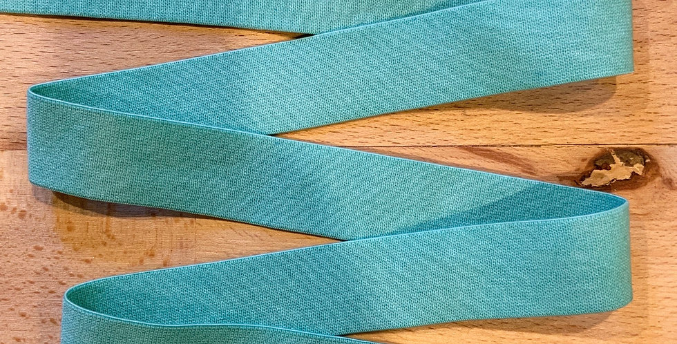 Mottled Spearmint Hand Dyed 20mm Soft Strapping Elastic…
