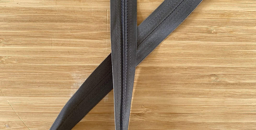 charcoal 55cm invisible zip