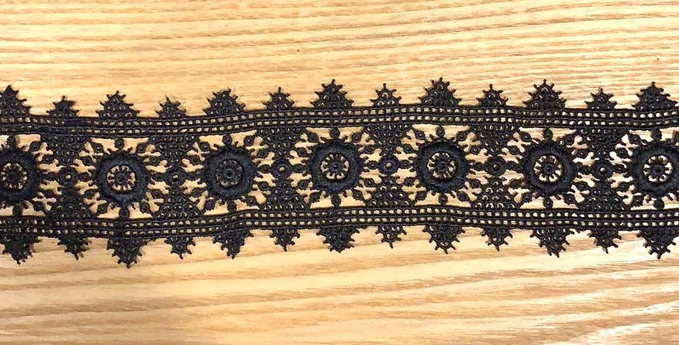 Milla Black Guipure Lace