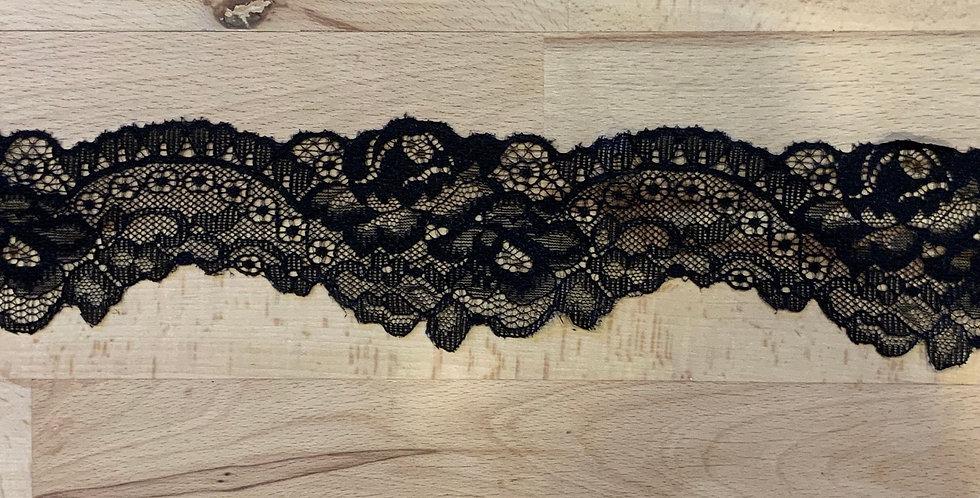 Black Austrian Scallop Lace Remnant