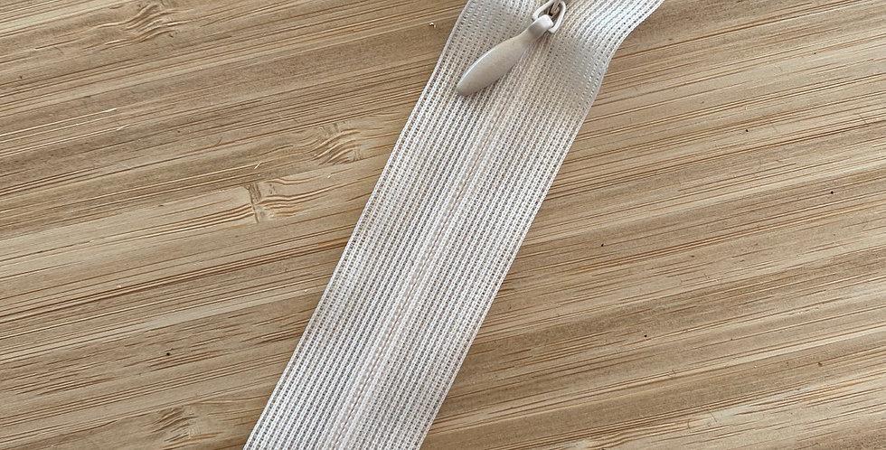 15cm beige invisible zip