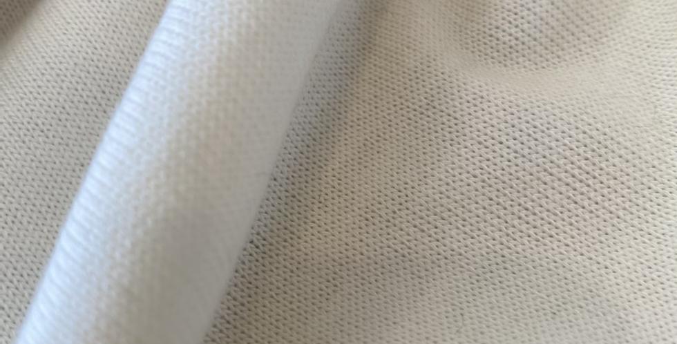 Cream lightweight fine rib knit