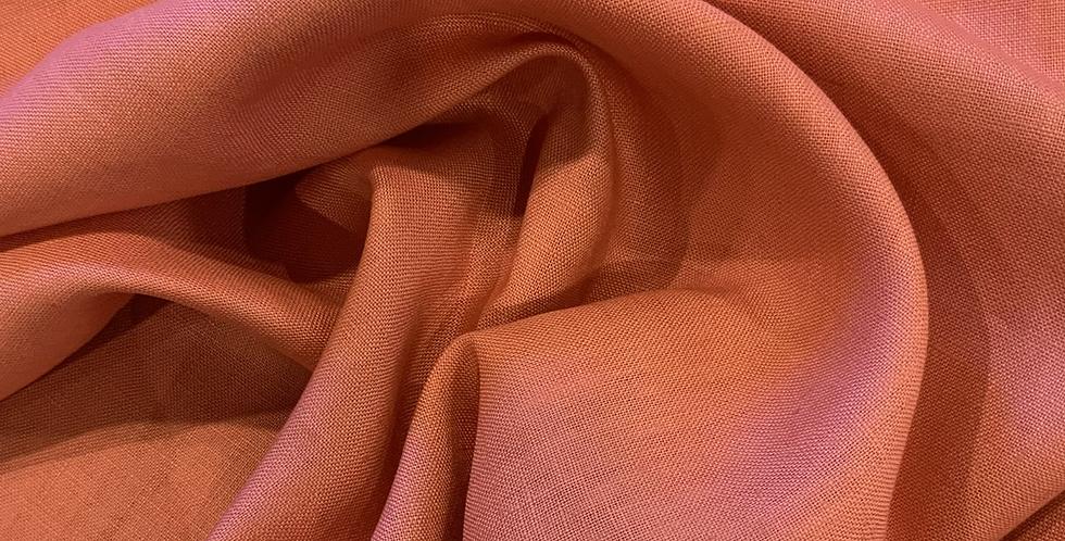 Peach Oeko-Tex Linen