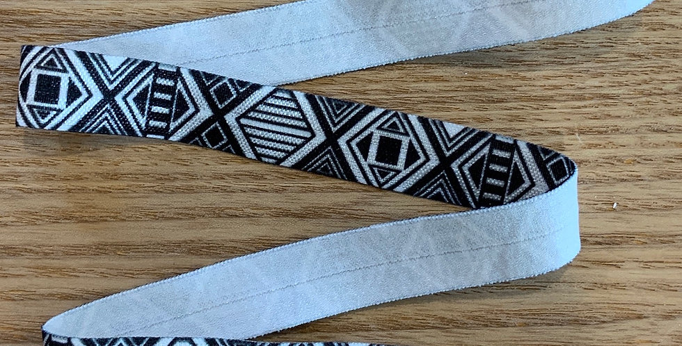Monochrome Aztec Foldover Elastic...