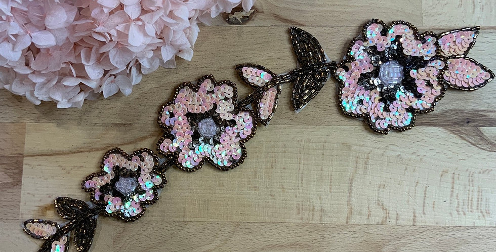 Pink Sequin and Bead Motif...
