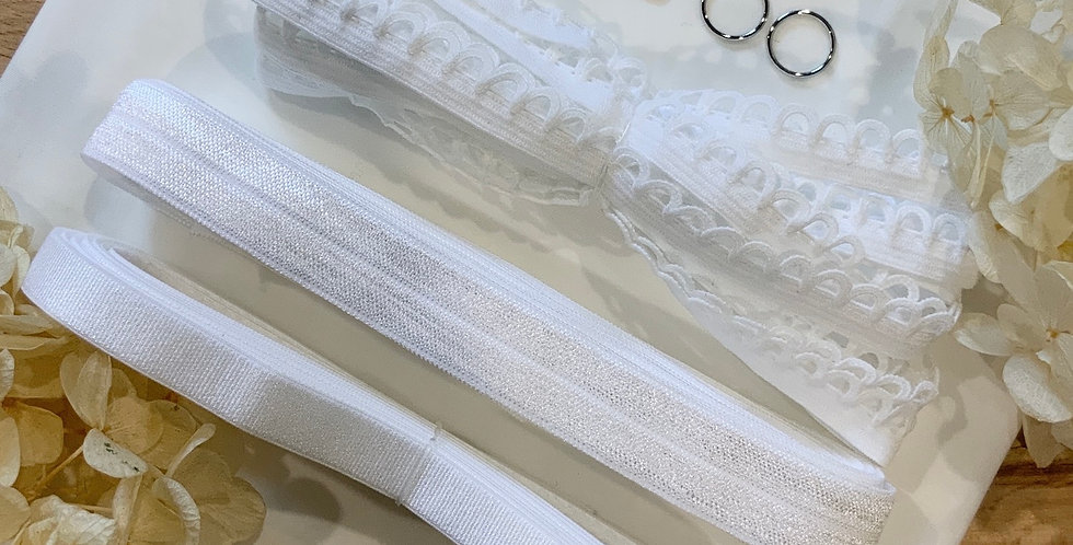 White Stretch Lingerie Essentials Kit...