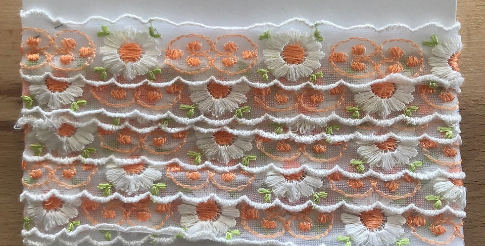 Retro embroidered trim remnant