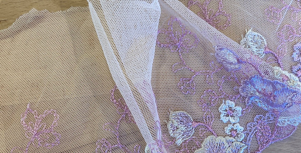 lavender embroidered trim
