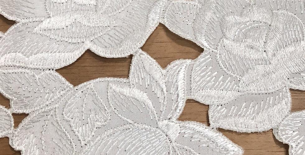Sara floral embroidered trim