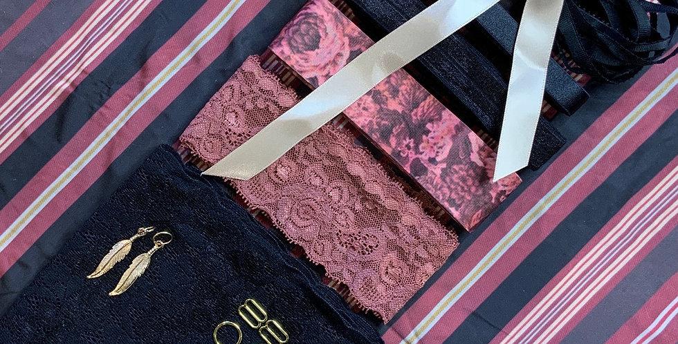 Oxford Stripe Lingerie Kit...