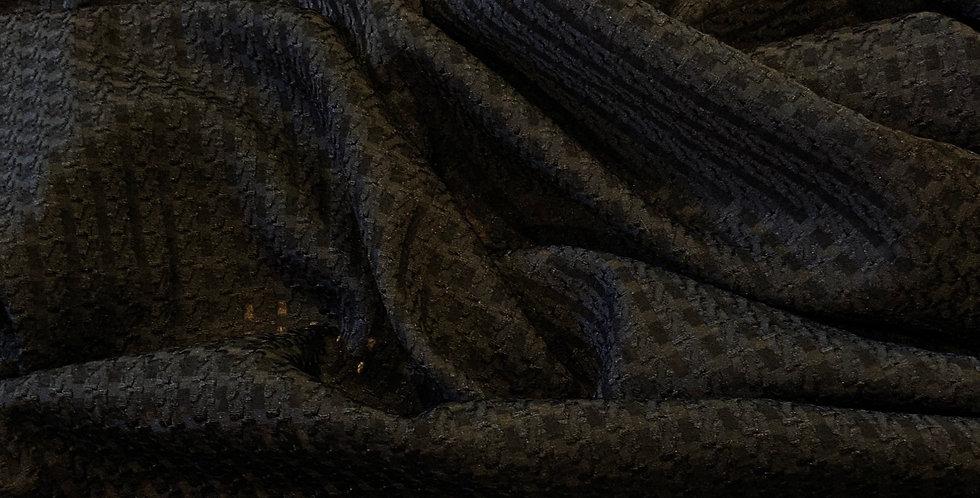 3Mtr Bundle Black Soft Sheer Houndstooth Jacquard Organza...